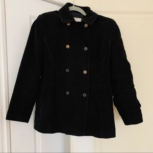 Next petite black cotton buttoned coat/jacket